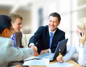 business partners make an agreement
