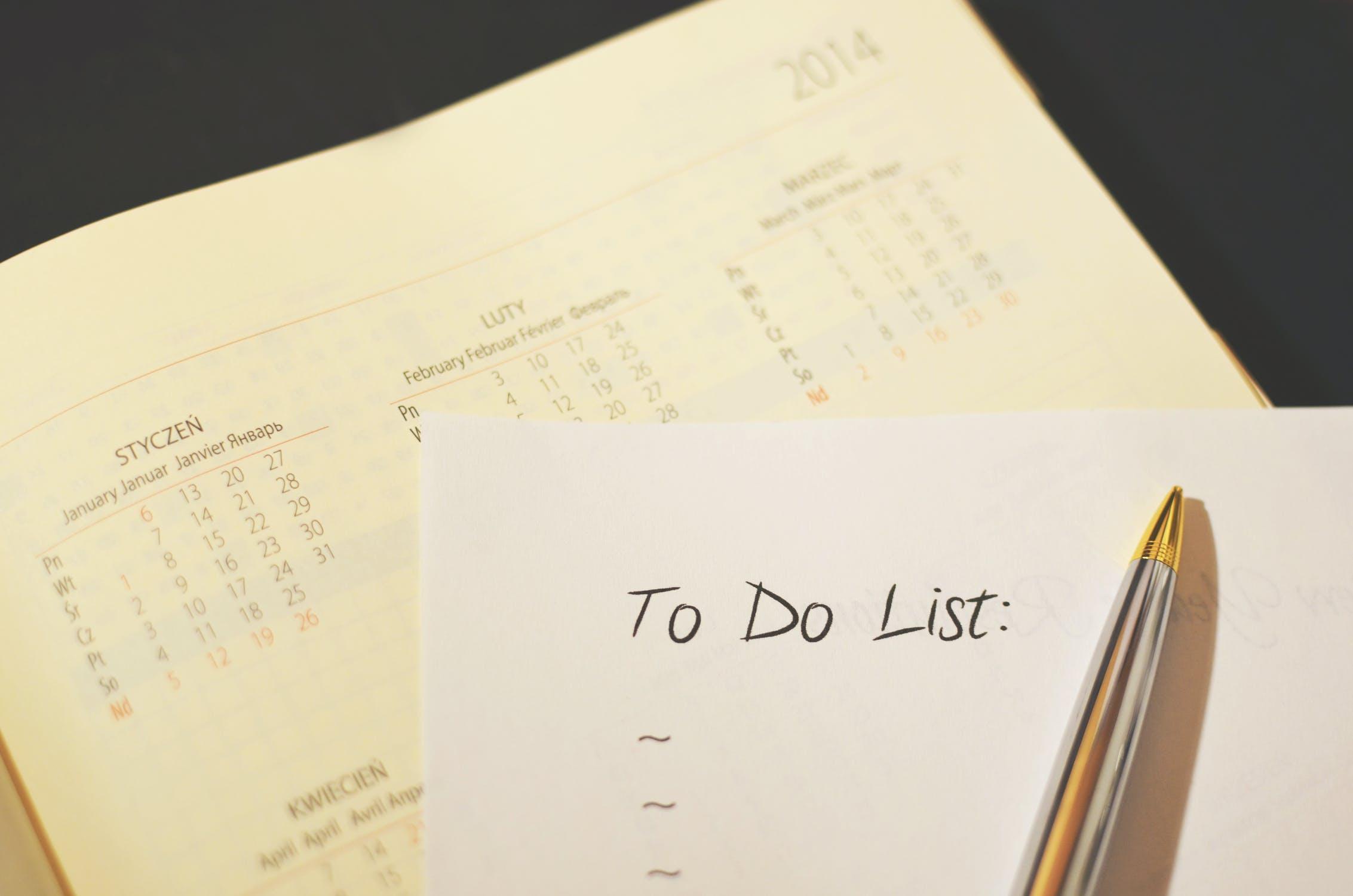 To-do list and calendar
